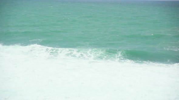 Thumbnail for Blue Green Sea and White Foam Wave
