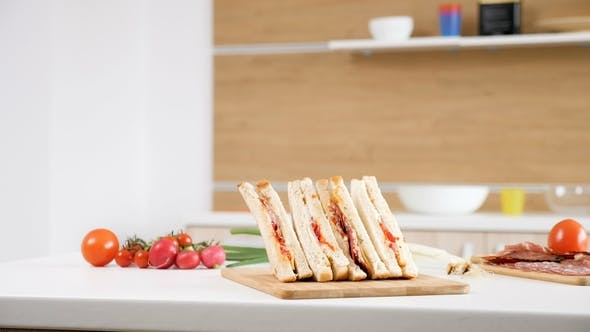 Thumbnail for Club Sandwich Lying on a Plate
