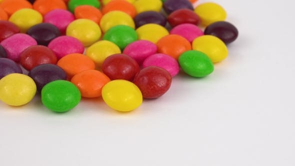 Thumbnail for Round Candy Sweets Rotating. Isolated on White. Loopable.