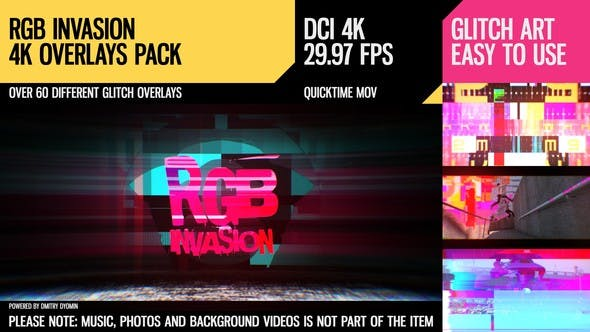 Thumbnail for RGB Invasion (4K Overlays Pack)