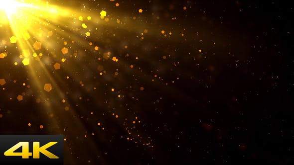 Thumbnail for Golden Light Rays Particles
