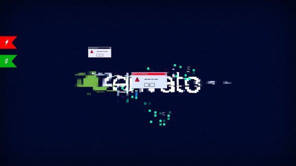 Logo moderne Glitch, élégant Youtube Opener, erreur d'interface, forme ultime Hud UI Techno Blog Intro