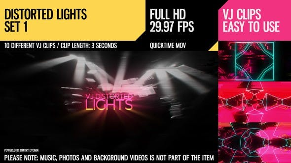 Cover Image for VJ Distorted Lights (Full HD Set 1)