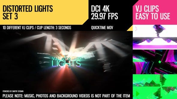 Thumbnail for VJ Distorted Lights (4K Set 3)