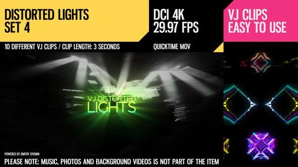 Thumbnail for VJ Distorted Lights (4K Set 4)