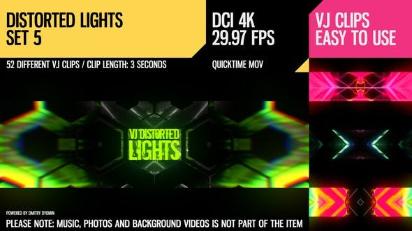 Thumbnail for VJ Distorted Lights (4K Set 5)