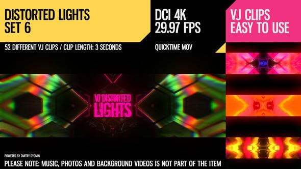 Thumbnail for VJ Distorted Lights (4K Set 6)