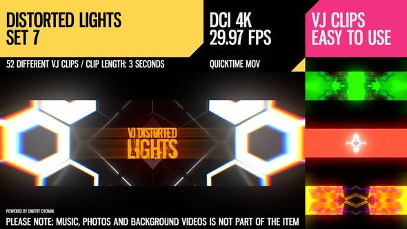 Thumbnail for VJ Distorted Lights (4K Set 7)