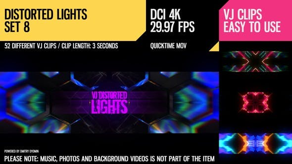 Thumbnail for VJ Distorted Lights (4K Set 8)
