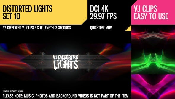 Thumbnail for VJ Distorted Lights (4K Set 10)