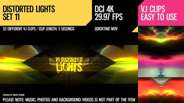 Thumbnail for VJ Distorted Lights (4K Set 11)