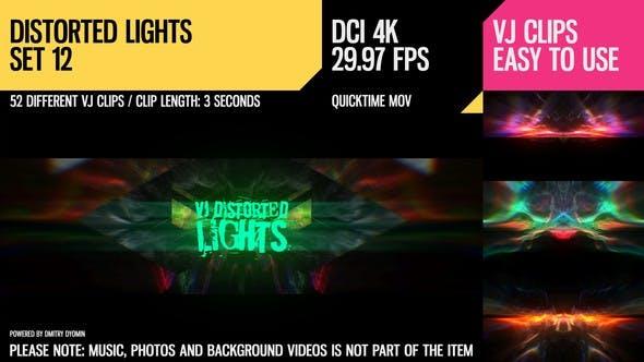Thumbnail for VJ Distorted Lights (4K Set 12)