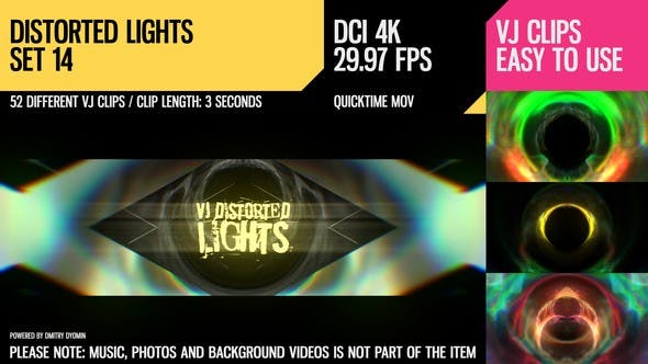 Thumbnail for VJ Distorted Lights (4K Set 14)