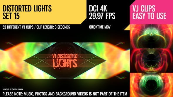 Thumbnail for VJ Distorted Lights (4K Set 15)