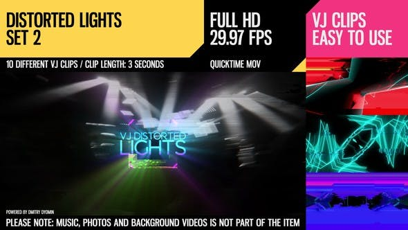 Thumbnail for VJ Distorted Lights (Full HD Set 2)