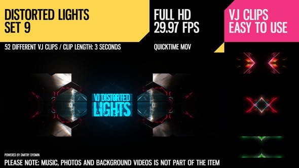 Thumbnail for VJ Distorted Lights (Set 9)