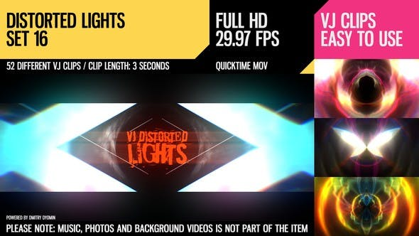 Thumbnail for VJ Distorted Lights (Set 16)