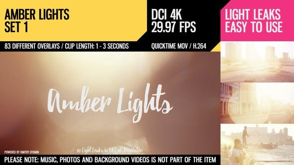 Thumbnail for Amber Lights (4K Set 1)