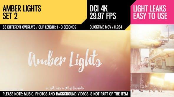 Thumbnail for Amber Lights (4K Set 2)