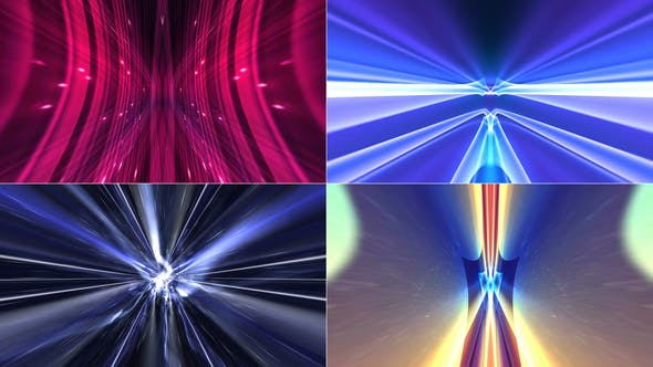 Thumbnail for 4 Abstract Technology Backgrounds 4k