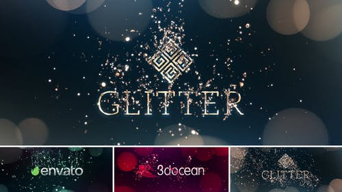 Glitter Particles   Logo Reveal Pack