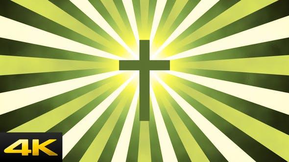 Thumbnail for Retro Sunburst Cross