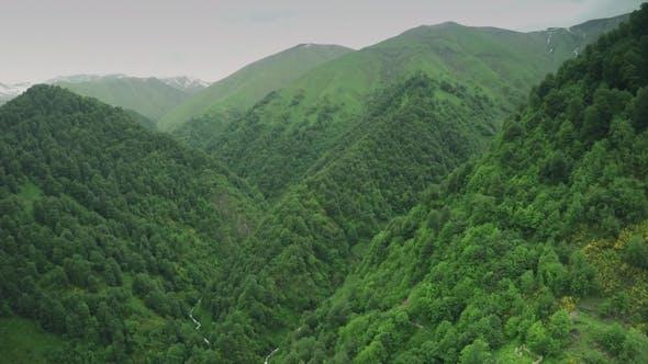 Thumbnail for Danger Road Caucasus Mountains Epic Flight Hills Caucasian Beauty Nature Georgia Animals Waterwall