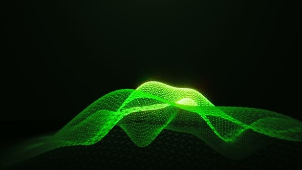 Cover Image for Green Shine Loopable Abstract Triangular Waves Rotation