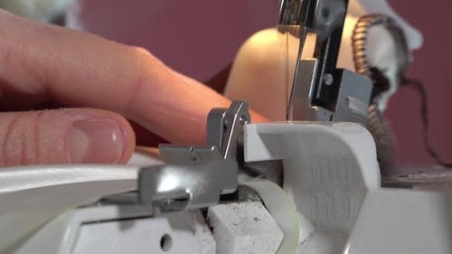 Woman Working with Sewing Machine