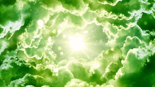 Green Fantasy Clouds