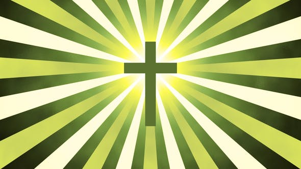 Cover Image for Retro Sunburst Cross