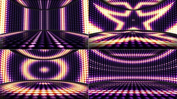 Thumbnail for 4 Lights Bulb Disco Dance Room Background, Loop, 4k