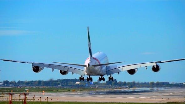 Thumbnail for Commercial Airbus A380 Jumbo Jet Plane Landing