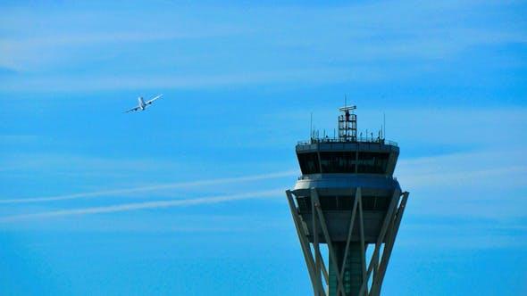 Thumbnail for Barcelona Airport Radar Traffic Control Tower