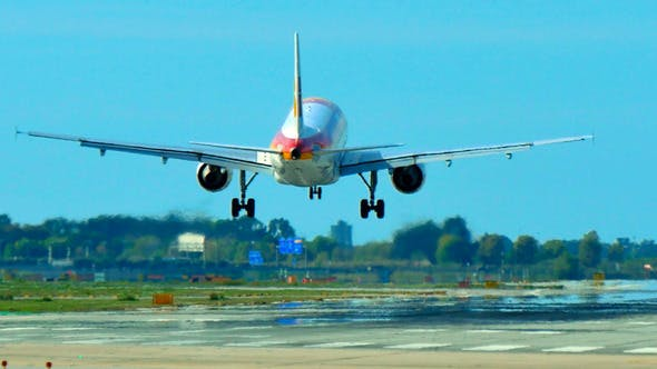 Thumbnail for Iberia Airlines Jet Plane Approaching Landing