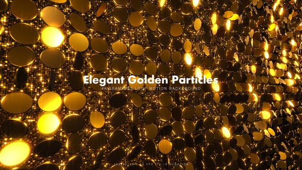 Cover Image for Elegant Golden Particles 18
