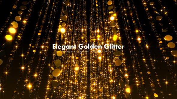 Thumbnail for Elegant Golden Glitter 16