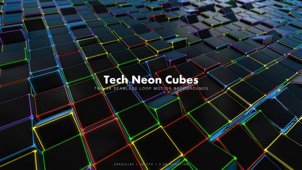 Thumbnail for Tech Neon Cubes