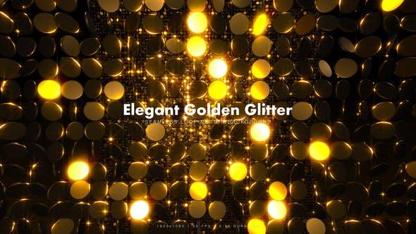 Eleganter Goldener Glitter 15
