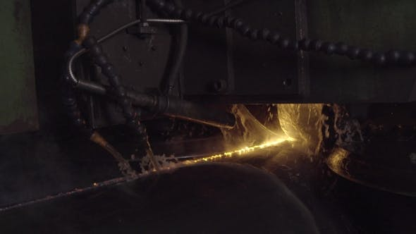 Thumbnail for Rolling Forming Rolls Metal Works on Manufacture of Pipes. Rolling Mill Machine for Rolling Steel