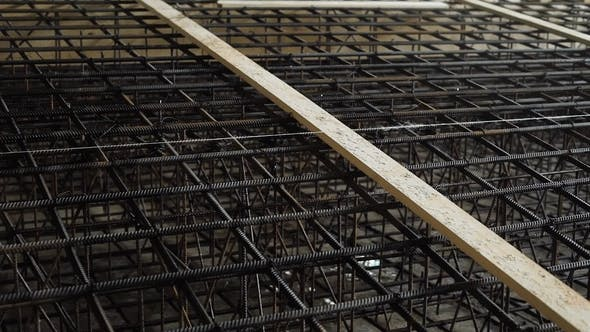 Shot of Metal Armature in Reinforced Concrete Structures