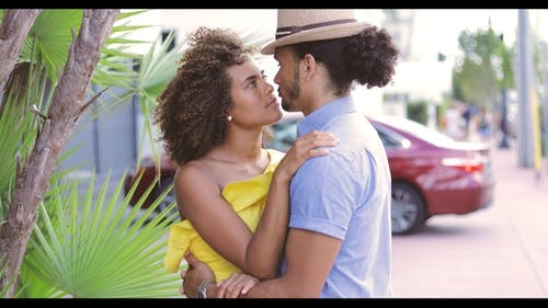 Couple Embracing and Bonding