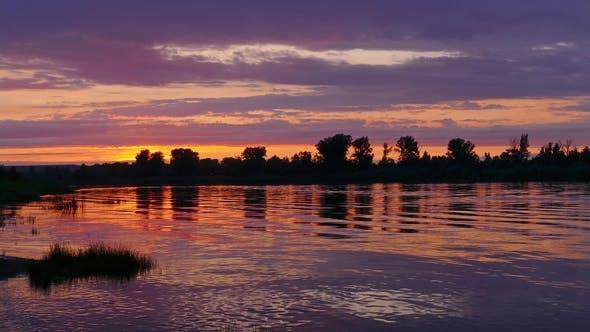 Thumbnail for River Sunset Landscape,