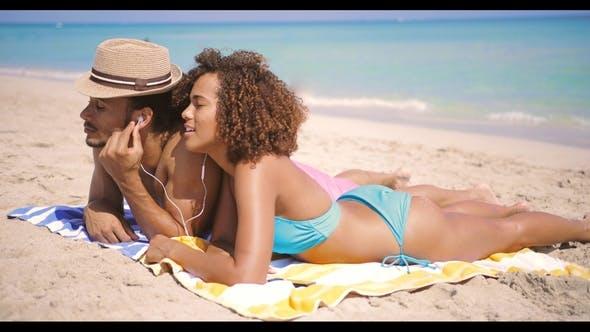 Thumbnail for Couple Enjoying the Music on Beach