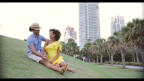 Thumbnail for Happy Ethnic Couple on Grass