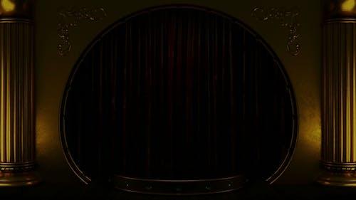 Velvet Curtain Stage