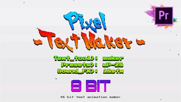 Thumbnail for Titres d'arcade Text Maker 8 bits pour Premiere Pro | Mogrt