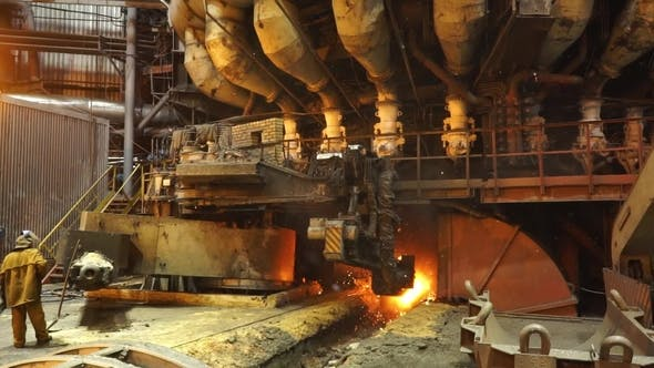 Thumbnail for Equipment and Machines at the Metallurgical Plant. Heavy Industry. Stationary Machines Opening