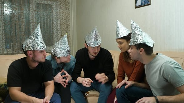 Thumbnail for Friends in Foil on the Head of the House. Gathering of Friends About Listening To Their Ideas of