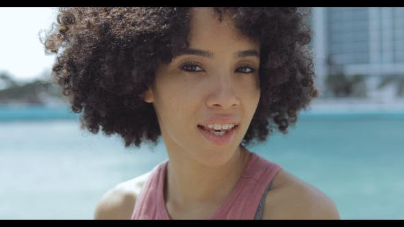 Thumbnail for Wonderful Young Black Woman with Short Curls